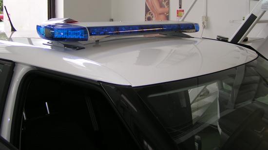 LED technológiás lapos SoundOff Signal kék fényhíd