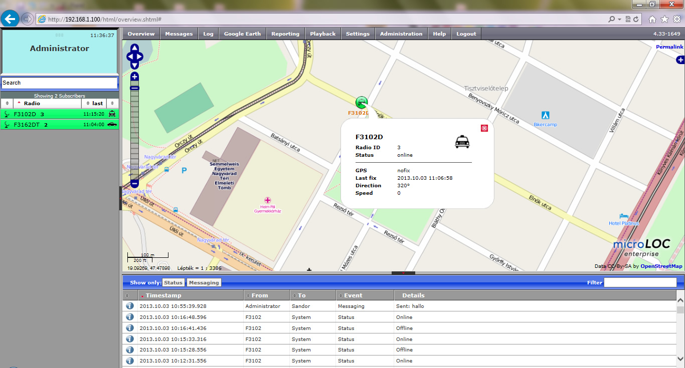 Microloc GPS nyomkövetős rendszer