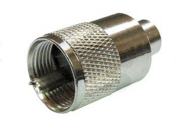 UHF Male (PL 259) Clamp/Solder Connector